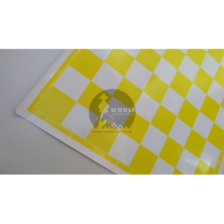 صفحه شطرنج پلاستیکی زرد
