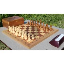 صفحه و مهره شطرنج چوبی موج زمان