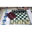صفحه و مهره شطرنج فدراسیونی مسابقات چترنگ کیسه ای