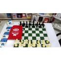 صفحه و مهره شطرنج فدراسیونی مسابقات کیان مدل کیسه ای